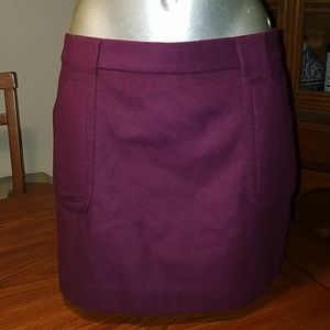 J.Crew Felted Wool Cashmere Mini Skirt